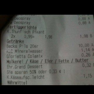 (lokal?) kaufland pfaffenhofen kasten becks (20x 0,5l) für 10 € zzgl. pfand