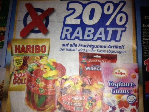Real (Bundesweit) Haribo Maxipack 360 gr. (Color-Rado/Goldbären) für 0,95 Euro statt 1,19 Euro bis 31.08.2013