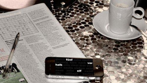 [iOS] Die Uhr, die schreibt - Time to Words