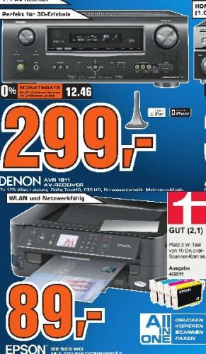 Saturn Tübingen: Denon AVR-1911 für 299€, Epson BX525WD WiFi-AiO für 89€ - und andere gute Angebote!