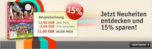 Buch.de 15 % Gutschein