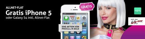 Iphone 5/Samsung S4 + All Nat Flat für 34,90? nur Heute