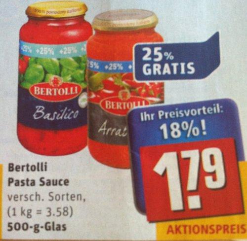 Bertolli - Pasta Saucen - nur 1,39€