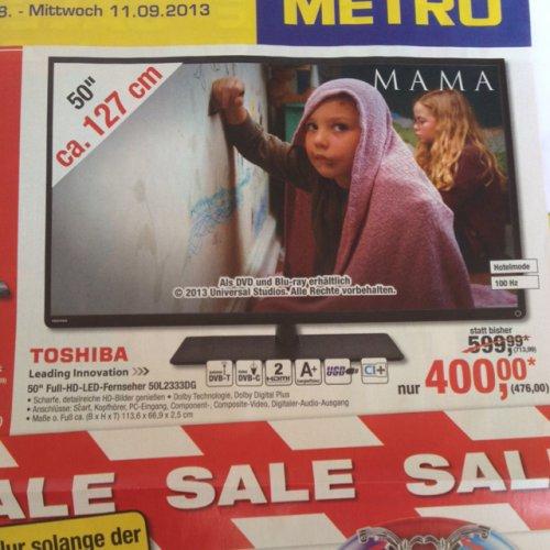 [Metro] Toshiba 50 Zoll 100Hz FullHD LED TV 50L2333DG