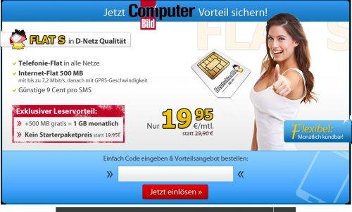 Allnet Flat incl. 1GB Highspeed Internet (Vodafone Netz) für 19,95 € / Monat [edit by Igoku: keine Mindestvertragslaufzeit! monatlich kündbar]