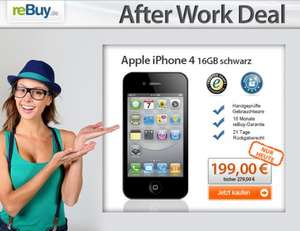 iPhone 4 nur 199 €? beim 'reBuy.de After Work Deal'
