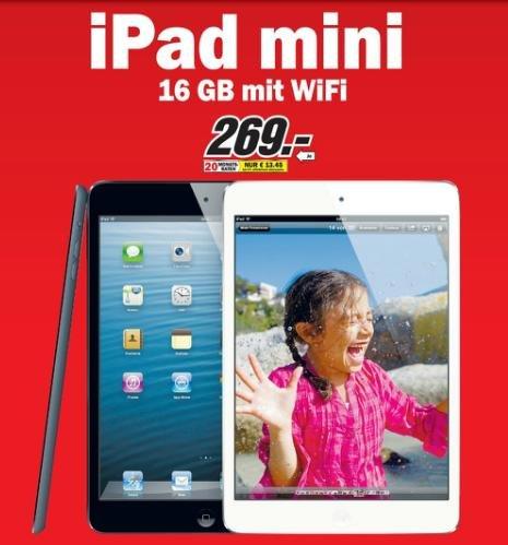 iPad mini (16 GB) für nur 269 € und noch mehr tolle Angebote bei Media Markt!
