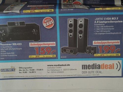 Jamo S 426 HCS 3, 5.0 Einsteigersystem in LÜBBECKE oder mediadeal -  für 199€ + Pioneer vsx 422 für 159€