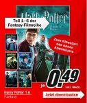 Harry Potter 1 - 6 für je 0,49€ als Download bei MediaMarkt!