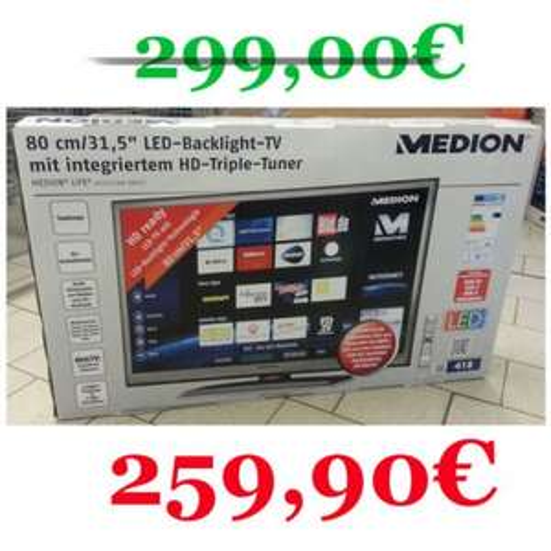 "Smart TV mit LED Backlight HD Triple Tuner 80 cm/31,5"""