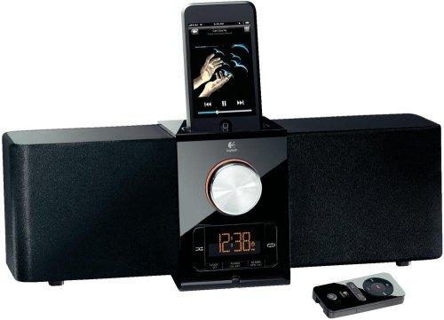 Logitech Pure-Fi Express Plus Lautsprechersystem für iPod/iPhone schwarz für 23,42€ @Boomstore