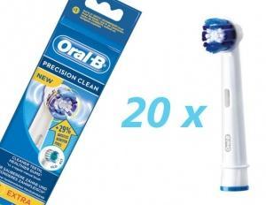 40 Stück 2xOral-B 20 Oral-B Precision Clean Aufsteckbürsten / Ersatzbürsten für 66,97 Euro @ tradoria.de