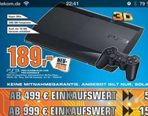 Lokal Frankfurt - Playstation 3 500 GB
