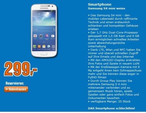 [LOKAL Bremen] Galaxy S4 Mini weiß @Saturn Bremen-Habenhausen