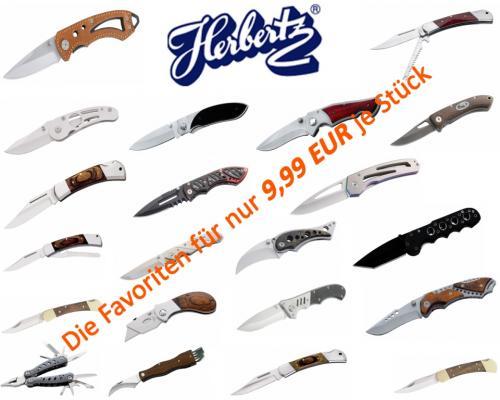 20 verschiedene Herbertz Messer für 9,99 EUR /Stück 50 % Rabatt