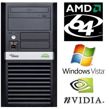 Komplett-PC mit AMD 64-Bit 2.2 GHz / 2 GB DDR2 / 80 GB S-ATA II / Windows Vista 64 Bit Vollversion / DVD-Brenner für nur 39,- EUR inkl. Lieferung [generalüberholt/1 Jahr Gewährleistung]