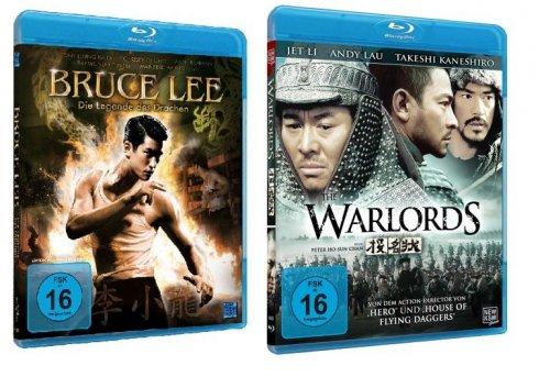 [Blu-Ray] Bruce Lee - Die Legende des Drachen & The Warlords - Jet Li für jeweils 3,99 EUR inkl. Versand @ amazon.de