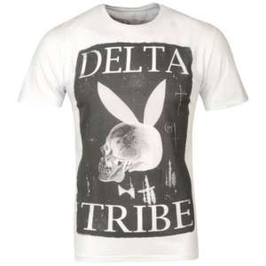 Delta Tribe Men's Delta Bunny Graphic T - Shirt Weiss für 9,34€ @TheHut