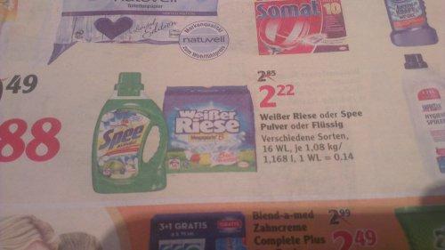 Weißer Riese / Spee für 1,22€ (16 WL) @ Globus KL