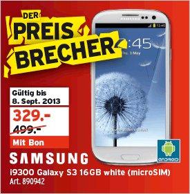 SAMSUNG Galaxy S III I9300 16GB Marble White für ca. 267 Euro (Schweiz)