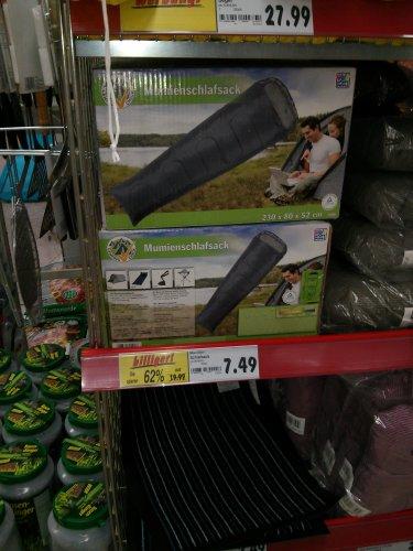 Camping Artikel 50% und mehr. Schlafsack für 7,49 Kaufland Castrop [Lokal?]