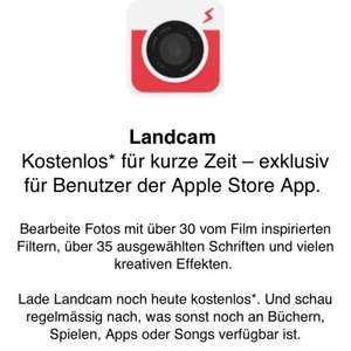[iOS] Landcam Fotobearbeitung kostenlos