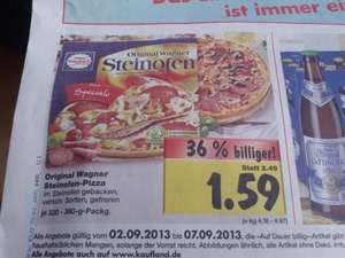 [Kaufland Berlin] Original Wagner Steinofen Pizza in verschiedenen Sorten