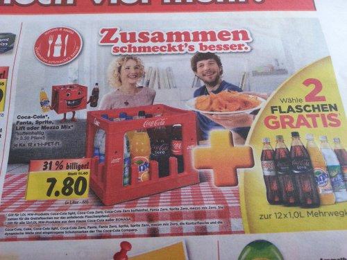[Lokal Wilhelmshaven] Kaufland: Coca Cola 14x1 Liter für 7,80 Euro // Red Bull für 0,88 Euro