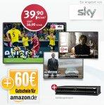 Sky Alle Pakete 24 Monate nur 39,90€ mtl. , 12 Monate Premium-HD gratis, 60€ Amazon Gutschein inkl.