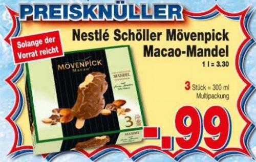 [Kaufpark & Rewe Dortmund] Schöller Mövenpick Macao Mandel 3er Multipack