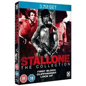 (UK) Stallone Triple Pack Box Set: Rambo: First Blood / Cliffhanger / Lock Up [3 x Blu-Ray] für 10,32€ @play (Zoverstocks)