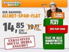 Klarmobil Handy All-Net-Flat für 14,85 € monatlich