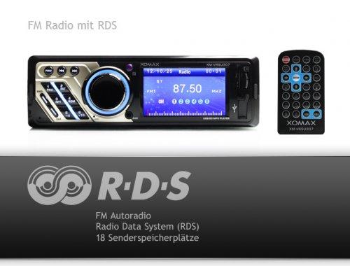 """USB & MP3-Autoradio mit  3'' Farbdisplay  """"XM-VRSU306 für 59€ @ Ebay"""