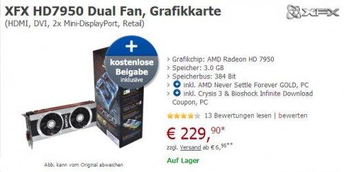 Radeon HD 7950 + gratis 5x PC Games im Wert von ca 100€