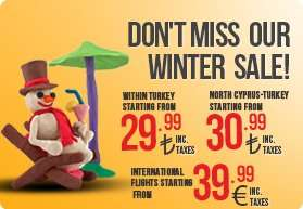 Pegasus Winter Aktion - z.b. Flüge innerhalb der Türkei ab €11,16