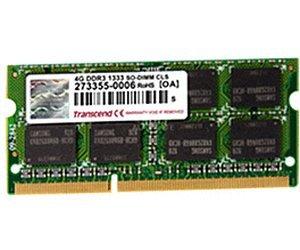 Transcend SO-DIMM 4GB, DDR3-1333 für nur 28,33 EUR inkl. Versand