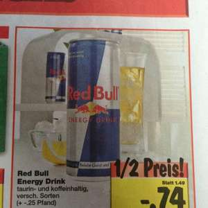 [Lokal Backnang] RedBull 74 Cent, Kiste Cola 6,96€