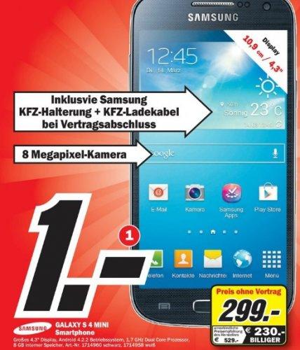 Samsung Galaxy S4 Mini im Mediamarkt Göttingen für 299 Euro
