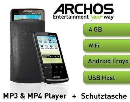 ARCHOS 28 MP3 & MP4 Player mit Android + Schutztasche - Tagesdeal für 32,99€ @ MeinPaket.de