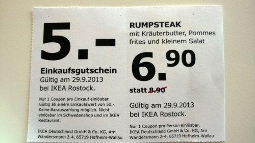 [IKEA Rostock] 5€ Gutschein bei einem Einkaufswert von 50€ am 29.09