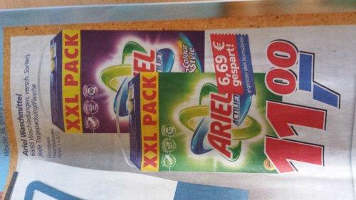 [Real] Ariel Waschmittel XXL 65WL für 11€ oder XXXL für 14€