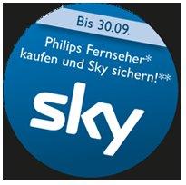 Philips Fernseher kaufen und Sky Abo als Bonus dazubekommen.