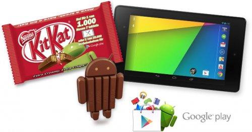 """Kitkat Android Gewinnaktion. """"Nexus 7 oder 1 von 25000 Playstore Gutscheinen"""""""