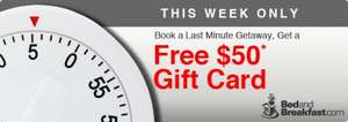 50$ Gutschein bei jeder Buchung auf Bedandbreakfast.com