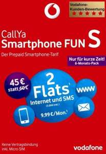 Vodafone CallYa Smartphone FUN S - 6 Monats Pack [@eBay.de|