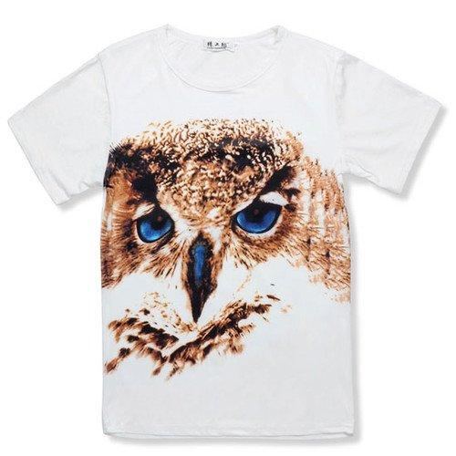 Eule / Tiger / Leo Muster Herren Kurzarm T-Shirts für je 8,54€ @Ebay