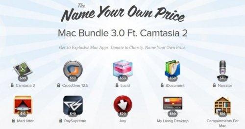 (MAC) Der Kracher des Jahres! Mac Bundle 3.0 mit Camtasia und Crossover zum selbst bestimmten Preis!