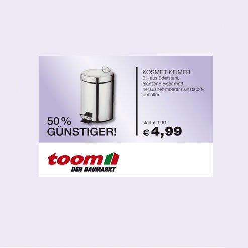 Kosmetikeimer 3 Liter aus Edelstahl 50 % im Toom Baumarkt