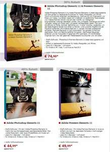 40% Rabatt auf Adobe Photoshop Elements 11 & Premiere Elements 11