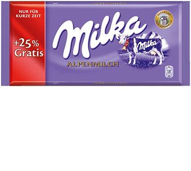 [Kaufland] 125g Milka für 0,59€ Alpenmilch/Haselnuss/Noisette [0,47€ je 100g]